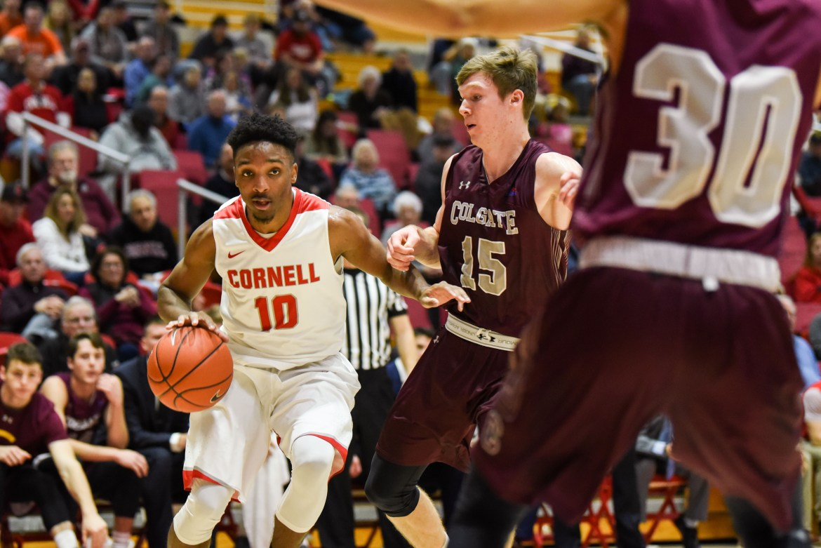 In their first loss of the season this Sunday, the Men's Basketball team fell 73-57 to Colgate.
