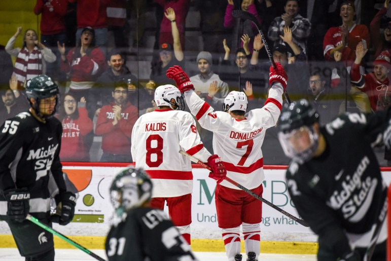 Yanni Kaldis once bounced Cam Donaldson and the Powell River Kings out of the BCHL playoffs. Now, they're teammates.