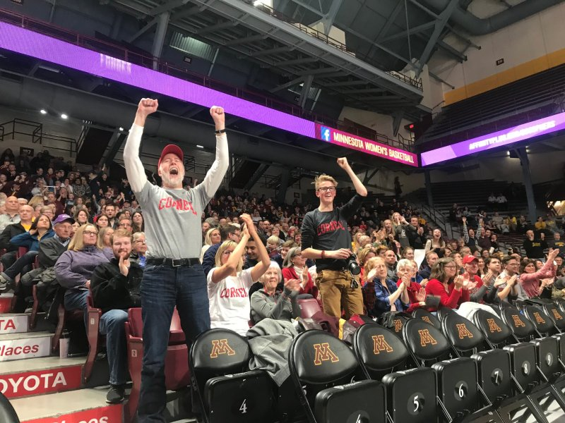 A strong contingent of Cornell fans supported the Red in Minneapolis on Friday.