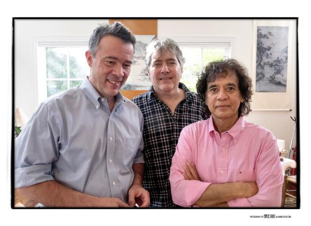 Edgar Meyer, Bela Fleck and Zakir Hussain at a Nashville rehearsal.
