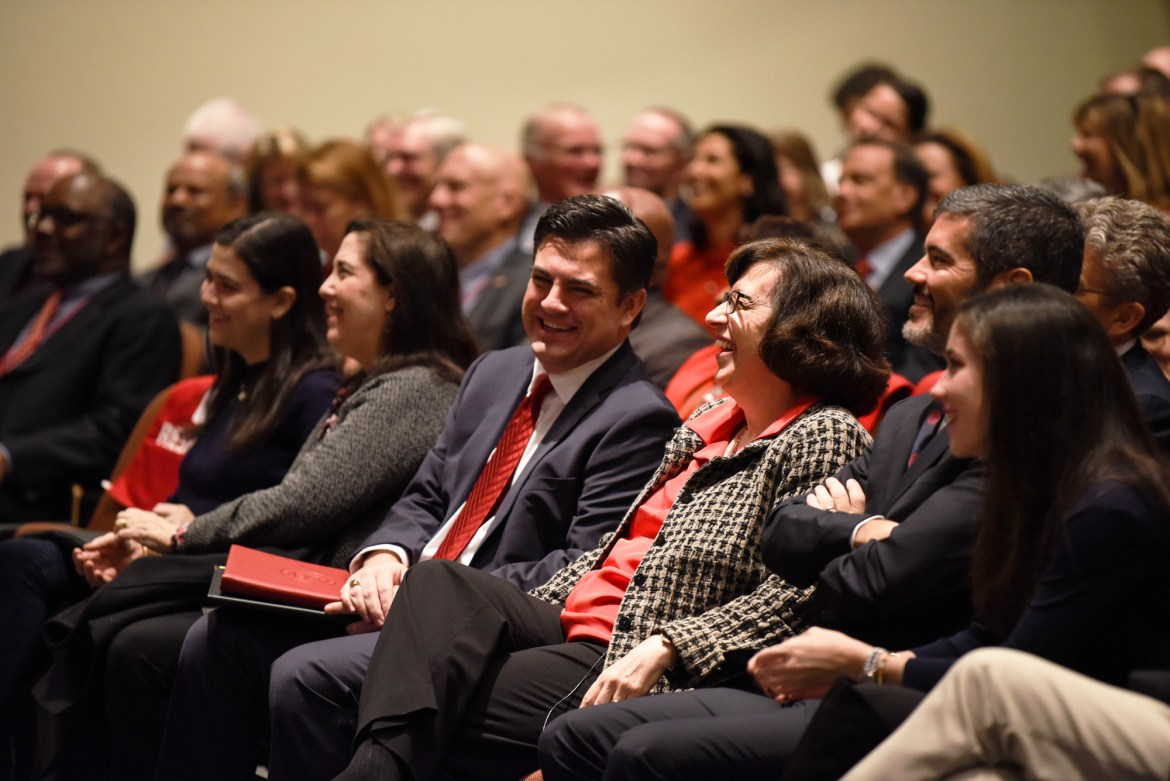 President Martha E. Pollack gave the annual State of the University speech on Friday, describing advancements made by Cornell in recent years.