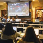 Watch parties were held throughout campus including locations like the Law School, the Tatkon Center and Kennedy Hall.