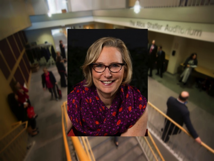 Sandra E. Peterson '80 delivered a presentation about business leadership strategies in Statler Hall on Thursday.