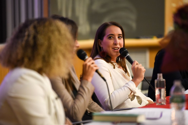 Aleen Kuperman '11, Jordana Abraham '11 and Samantha Fishbein '11, the three Betches founders, spoke on Thursday about their experience at Cornell and how it influenced them as they built their company. (Boris Tsang / Sun Assistant Photography Editor)