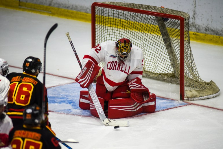 Sophomore Austin McGrath, pictured above in an October exhibition game, has started four straight games for Cornell with classmate Matt Galajda out with an injury.
