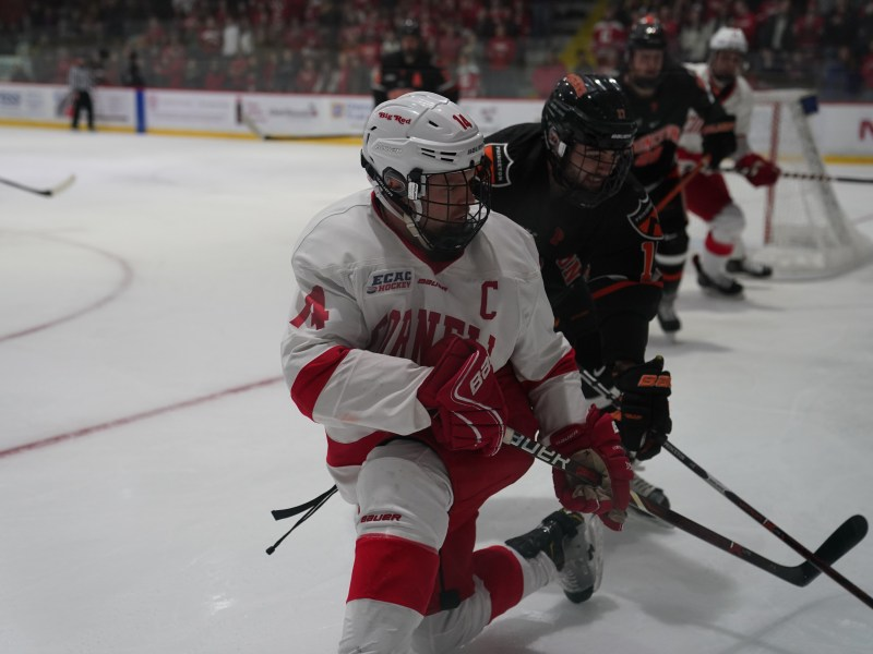 After knocking off the Tigers, 5-1, before winter break, Cornell earned a sweep of the season series with Princeton with a 3-2 road win on Friday.