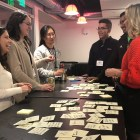Idea Gamble | Students brainstorm solutions during design thinking workshop on Friday.