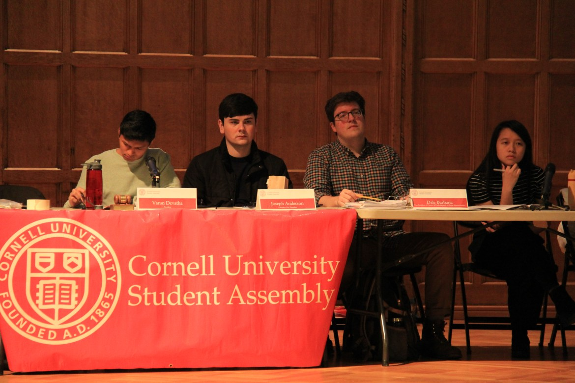 Student Assembly discuss two proposals: one to create a representative position for students with disabilities and to establish the Student Health Advisory Committee.