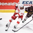 Morgan Barron had 10 shots on goal in Cornell's 1-1 tie with RPI.