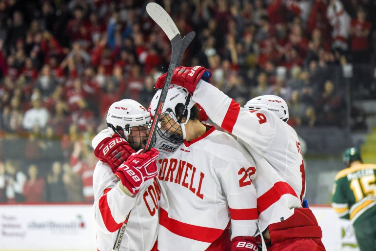With its win over Clarkson, Cornell still holds sole possession of first place in the ECAC.