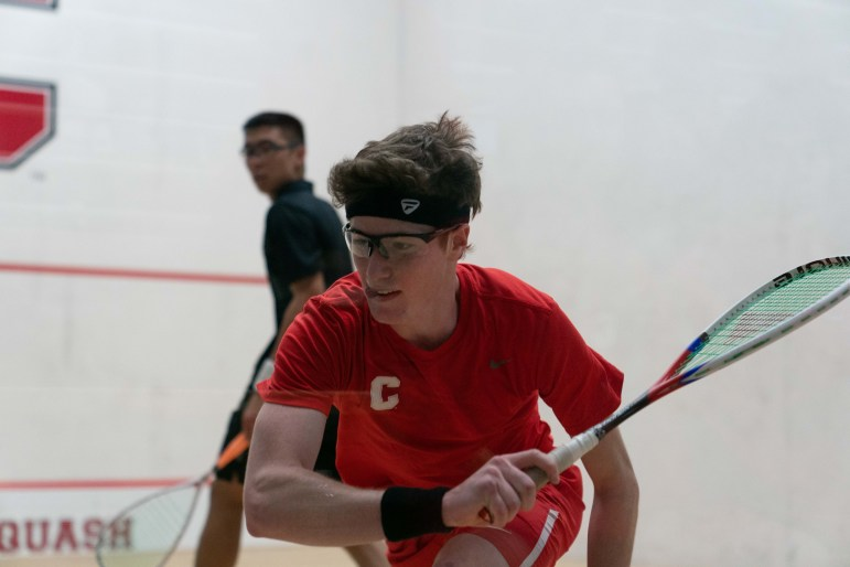 On Saturday, the men's squash team claimed a 7-2 victory over Brown. (Ben Parker / Sun Staff Photographer)