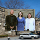 Pictured (from left to right): Charles Walcott Ph.D. '59, University Ombudsman, Linda Falkson, Director of the Ombudsman Office, and Helen Lang, Office of the Ombudsman Coordinator. The Office of the Ombudsman, located in Stimson Hall, focuses on resolving issues between students, faculty, and staff.