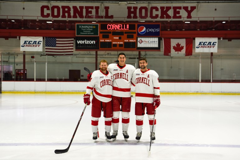 Matt Nuttle (right) played just two games as a freshman before being voted an alternate captain for Cornell his senior season.