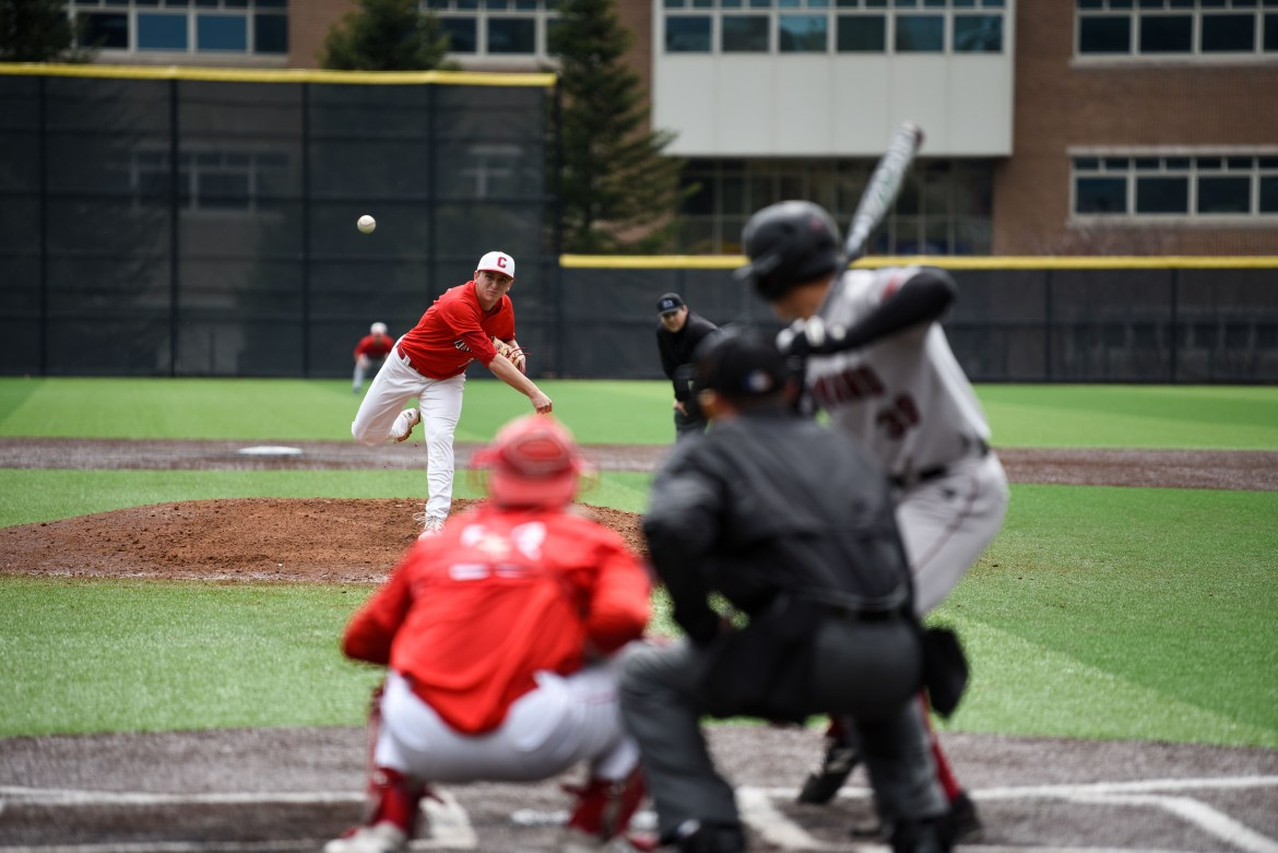 The Red's pitching kept Cornell in the fray for all three games of the series.