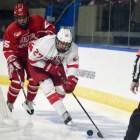 Men's hockey vs. BU at Worcester, Massachusetts on March 24th, 2018. (Boris Tsang / Sun Assistant Photography Editor)