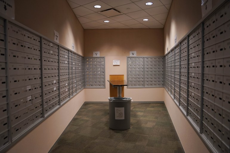 Soon, students will no longer pick up their mail in these mail boxes. Instead, they will receive notifications when they have mail.