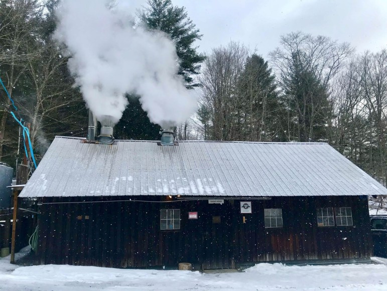 Arnot Sugarhouse where sugar is processed