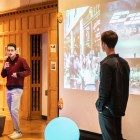 Thirteen groups of students across multiple majors and colleges gave four-minute presentations on how Cornell's campus could be reimagined at the Half-built event last week.