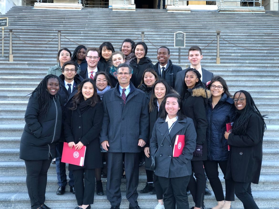 During their trip, students met with Cornell alumnus Dan Meuser '88 (R-Penn.), along with the staff of other members of Congress