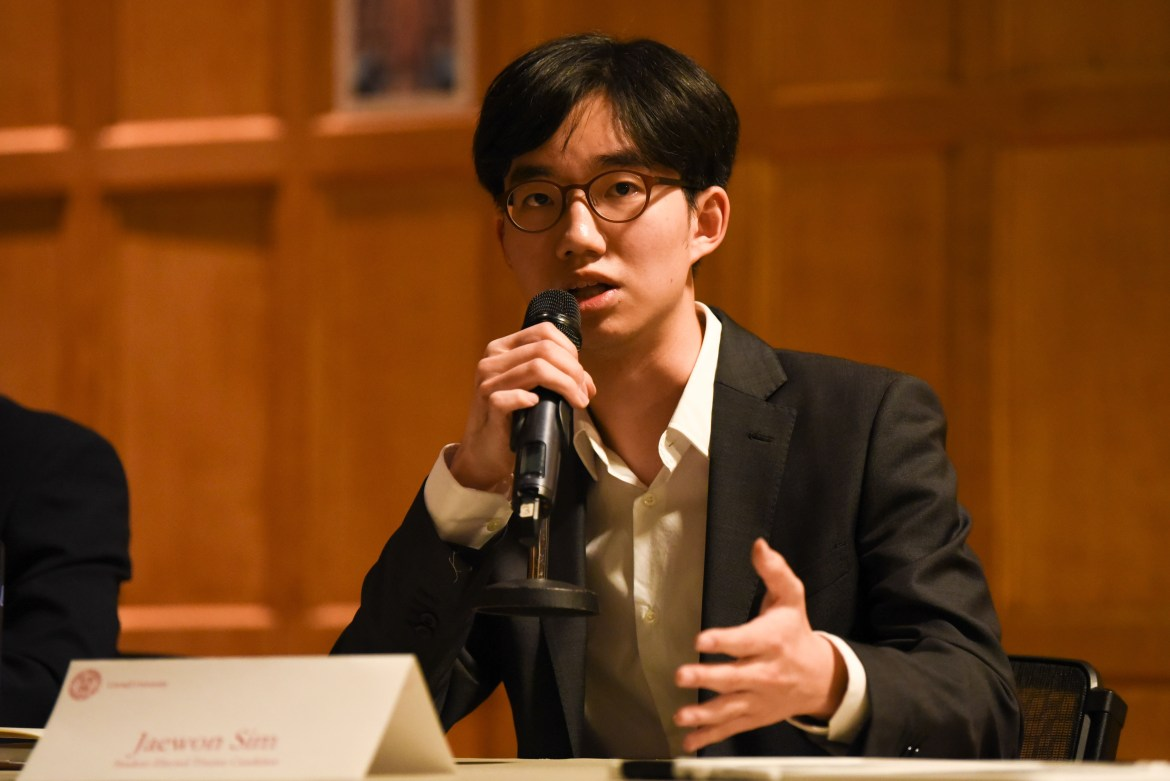 S.A. vice president for internal relations Jaewon Sim '21 led the free printing initiative.