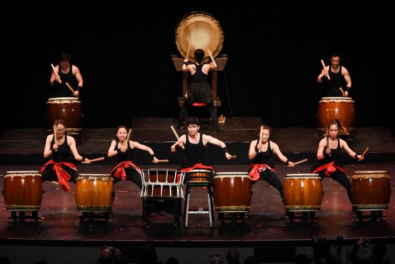 Yamatai performs at its annual PULSE showcase at Bailey Hall on Saturday. (Boris Tsang / Sun Photography Editor)