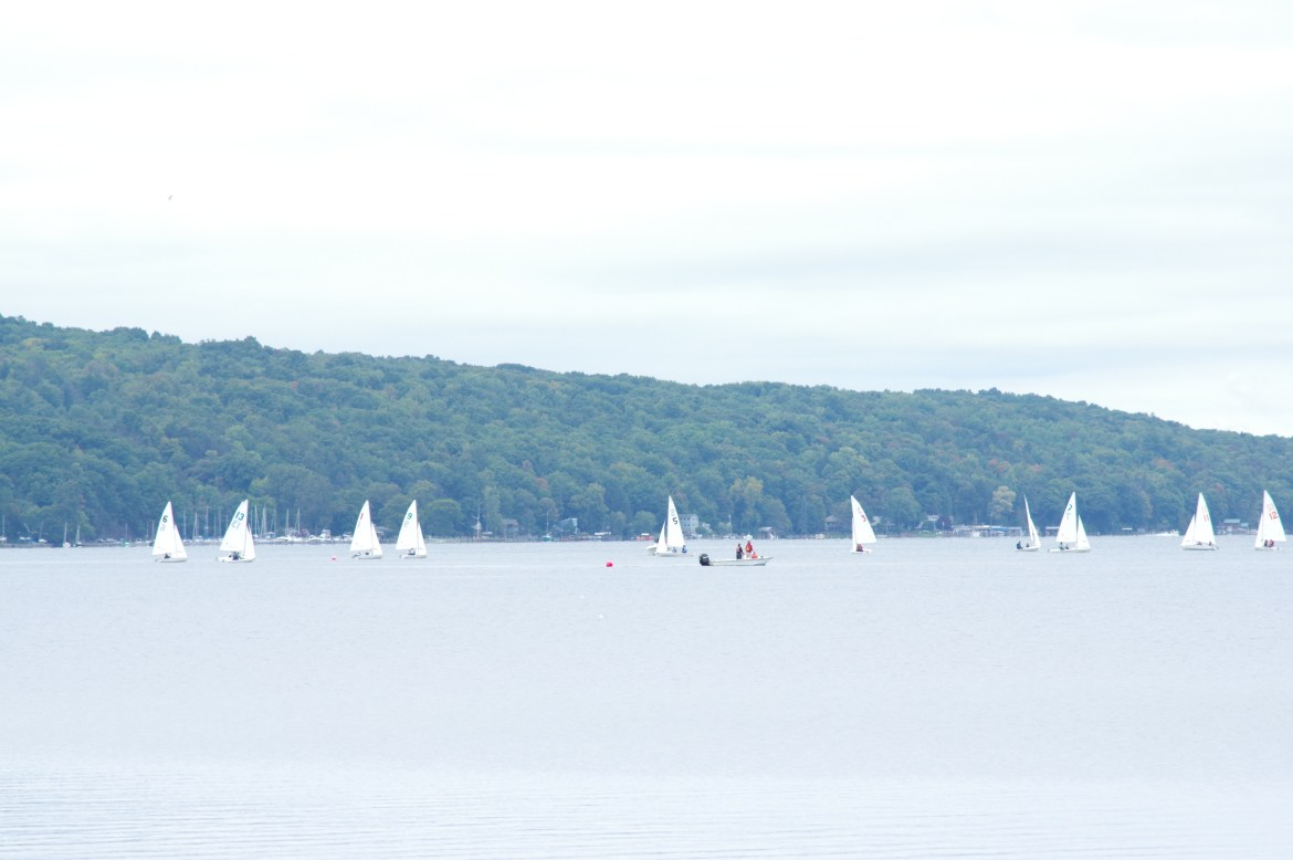 With its eight-place finish over the weekend, Cornell coed sailing secured a place in the National Semifinals.