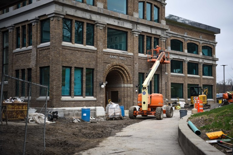 Rand Hall is currently under construction and will feature a renovated library in the fall.