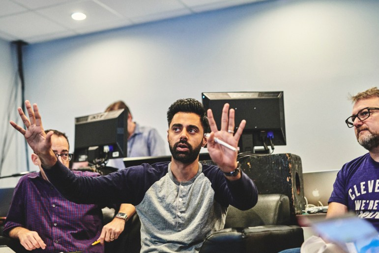 Comedian Hasan Minhaj, pictured in 2018, was originally scheduled to be Cornell's convocation speaker, according to sources and internal committee communications.