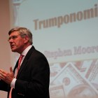 "Stephen Moore, former advisor for Trump's 2016 election campaign, spoke at Cornell Wednesday about ""Trumponomics"" and various issues on Trump's agenda."
