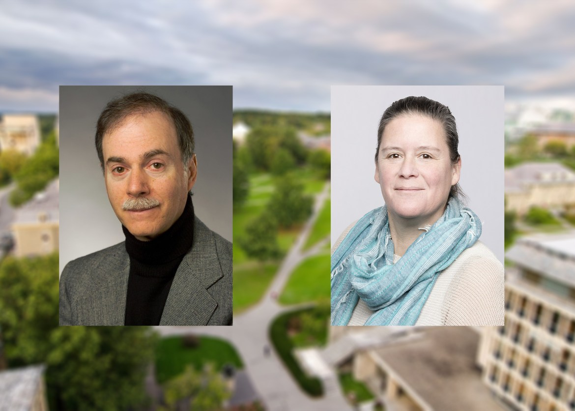 Prof. Stephen Ceci, human development, and Prof. Kelly Zamudio, ecology and evolutionary biology.