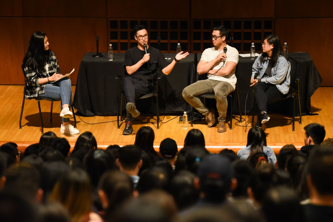 Wong Fu Productions speaks about the Asian American Experience to Cornell students.
