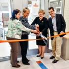 The christening ceremony for the newly-named food safety and quality lab.