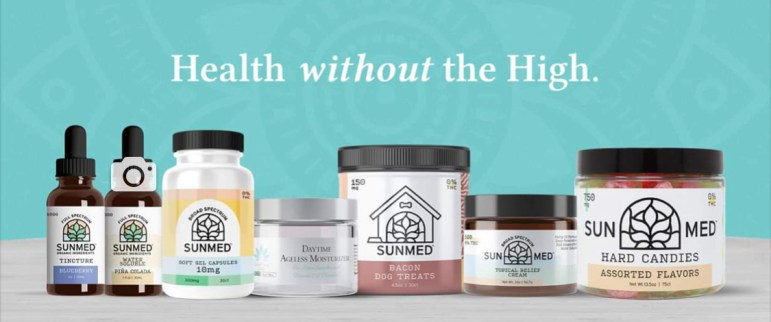 A sampling of a line-up of products available at Your CBD Store.