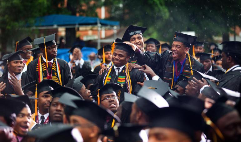 Students at the Morehouse College graduation ceremony in 2013.