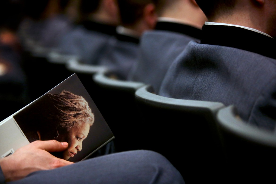 Students attend a reading by the author Toni Morrison in 2013.