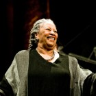 Toni Morrison M.A. '55 at a party in 2009.
