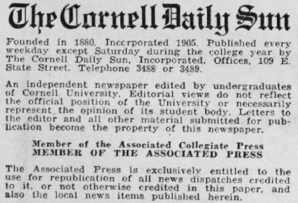 After its founding in 1880, The Sun featured an array of different mastheads, touting its independence from the university.