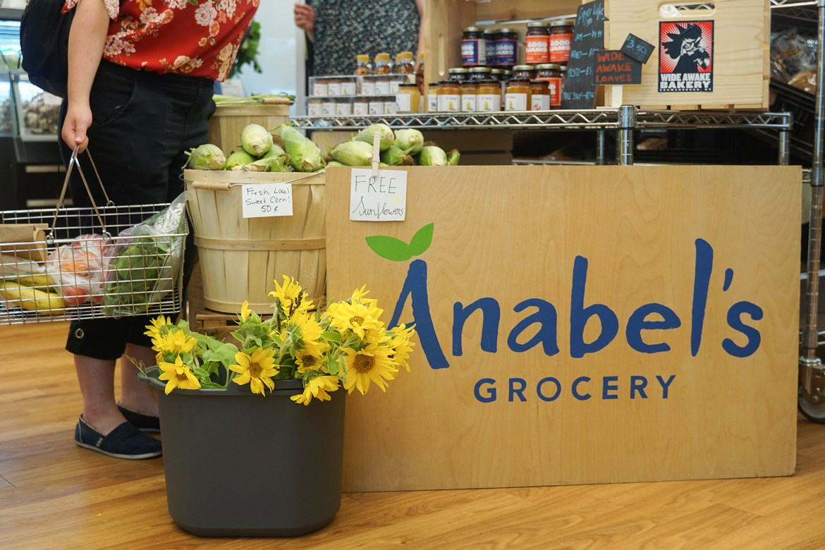 Anabel's Grocery is open for business in Anabel Taylor Hall.