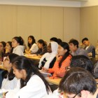 Students participating in the workshop