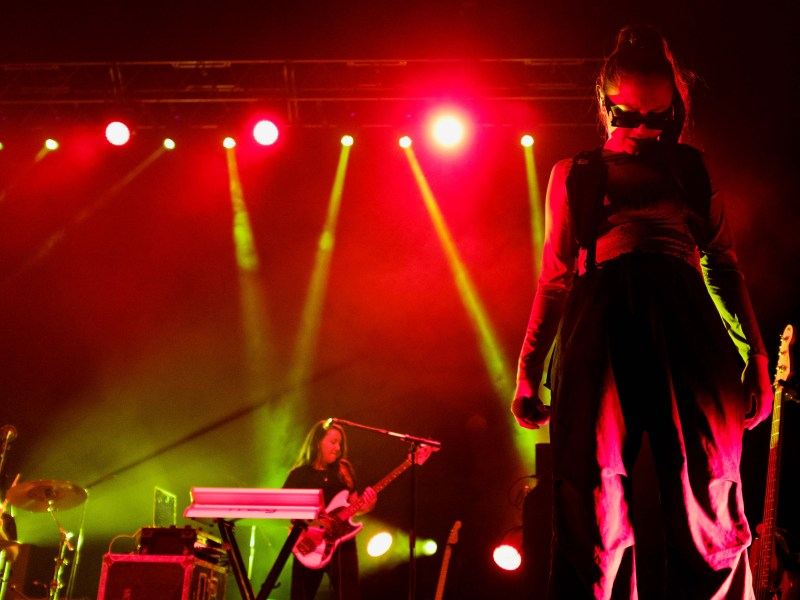 Daya performs at the Homecoming concert at Barton Hall on Saturday. (Michael Suguitan/Sun Staff Photographer)