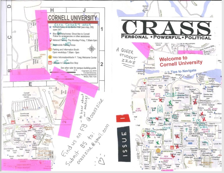 The cover of Crass's first issue displays the creative angle of the publication.