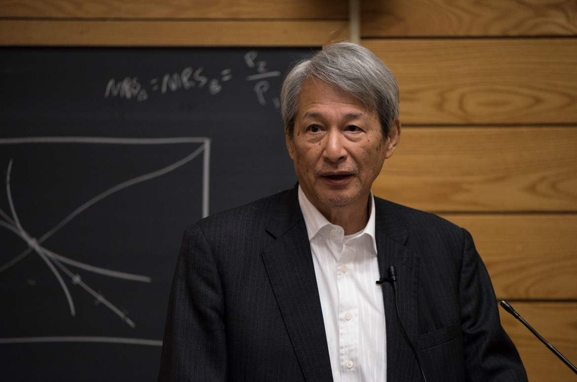Takashi Shiraishi spoke about the delicate balance Japan must strike as it navigates two dueling powerhouses, the U.S. and China.