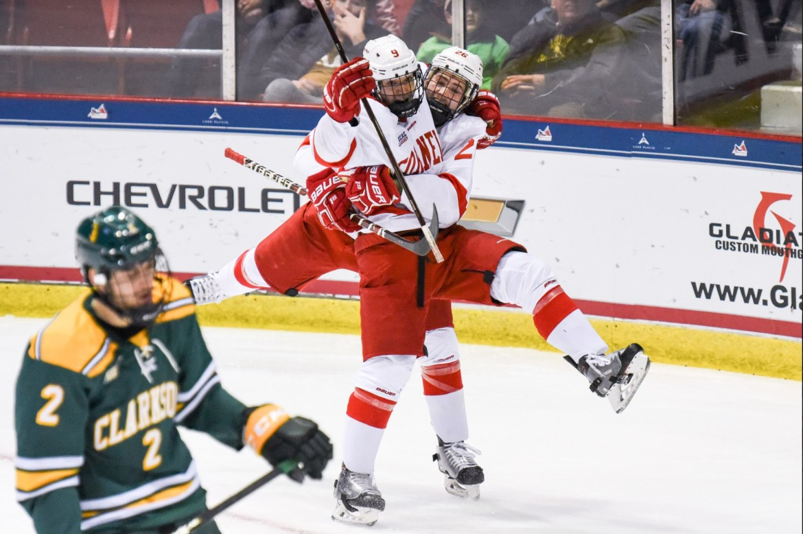 No. 5 men's hockey went 4-for-12 on the power-play in the 6-2 victory.