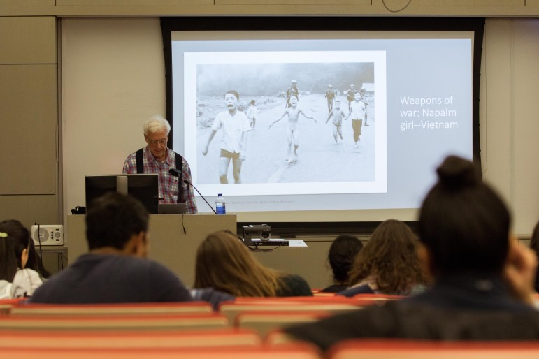 Prof. Robert Sternberg, human development, argued at a lecture on Tuesday that flawed Western notions of intelligence are responsible for ingrained social structures and world destruction. (Hannah Rosenberg/Sun Staff Photographer)