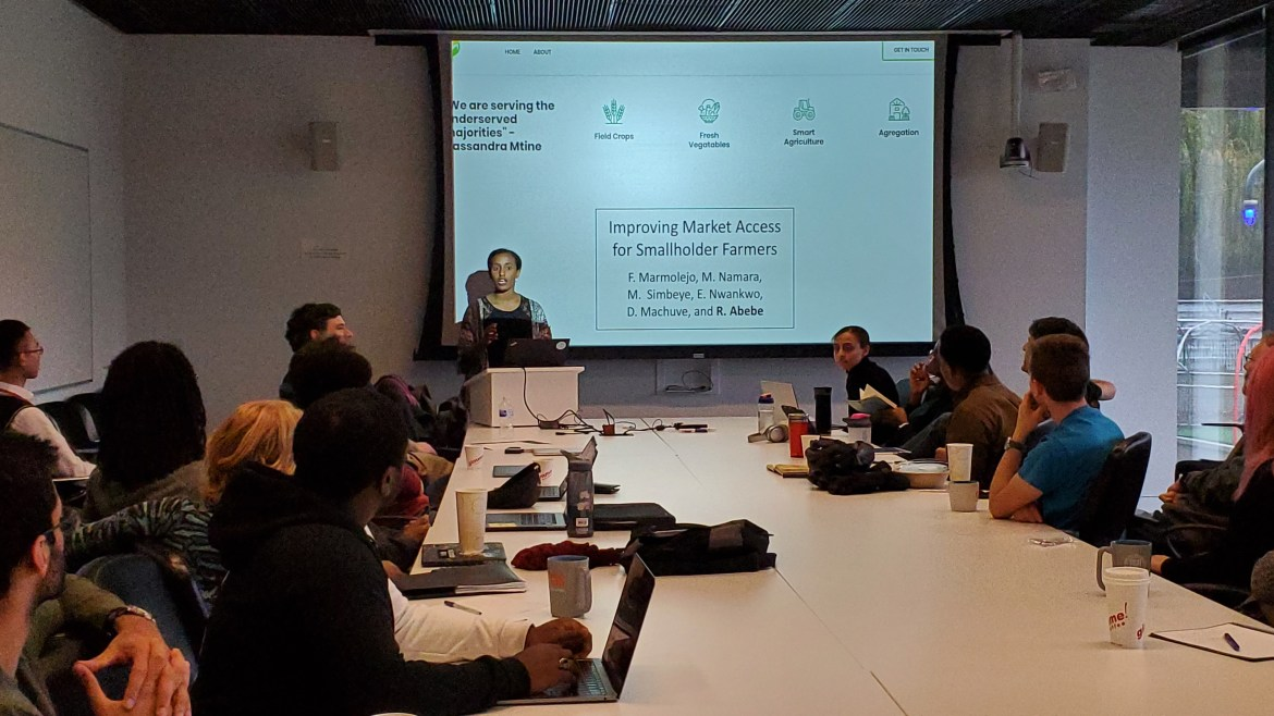 "Rediet Abebe presented ""Designing Algorithms for Social Good"" last week."