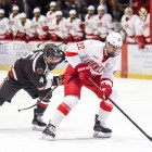Senior forward Jeff Malott at the game against Brown at Lynah Rink on November 8th, 2019. (Boris Tsang/Sun Photography Editor)