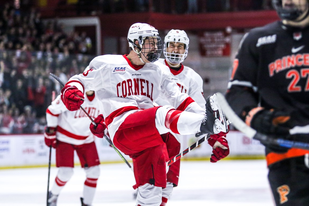 Cornell cruised to victory against Princeton at Lynah Rink on Saturday night.