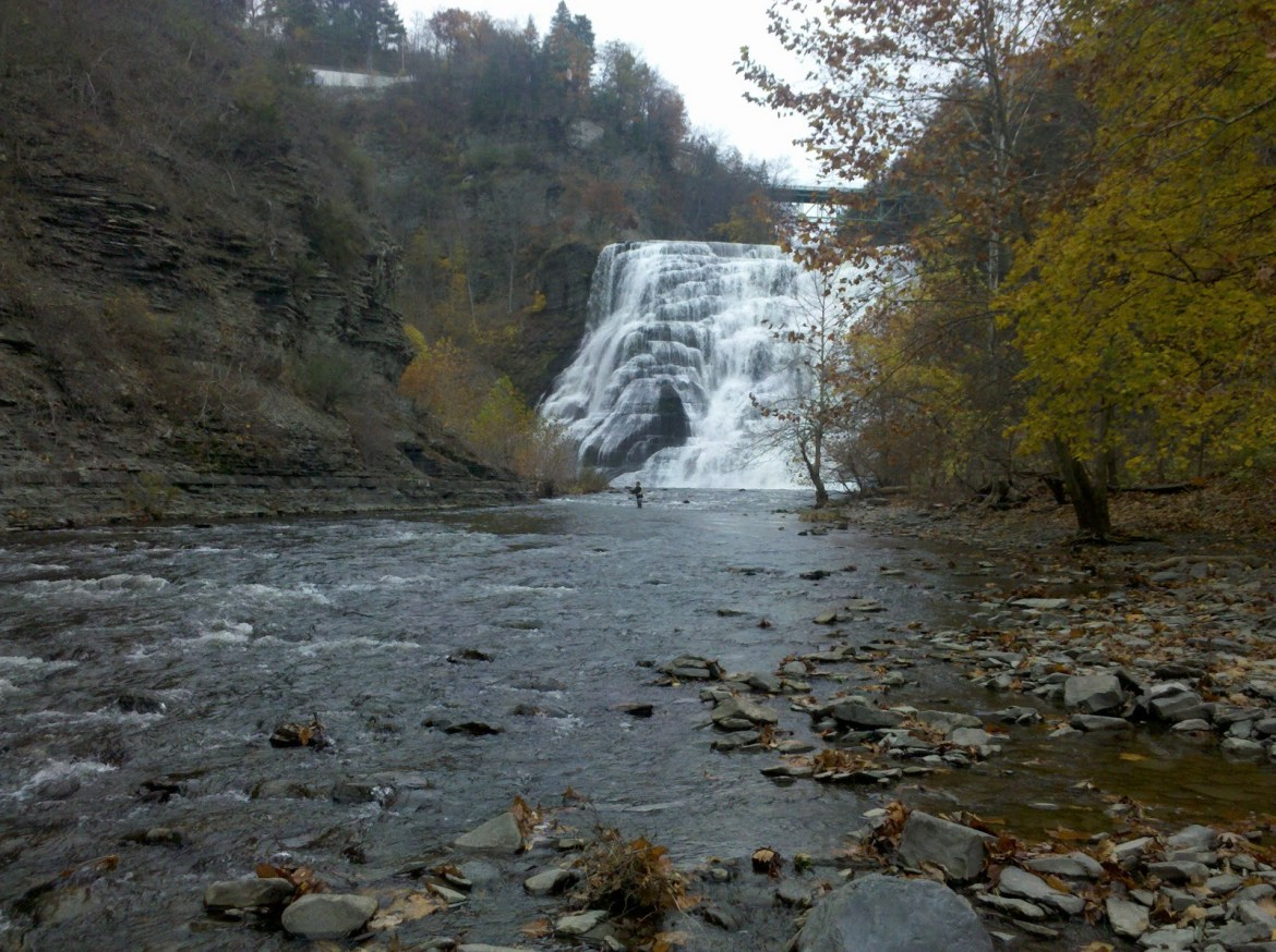 Ithaca Falls is located in the Fall Creek neighborhood by North Campus.