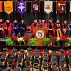 President Martha Pollack addresses December graduates in 2018.