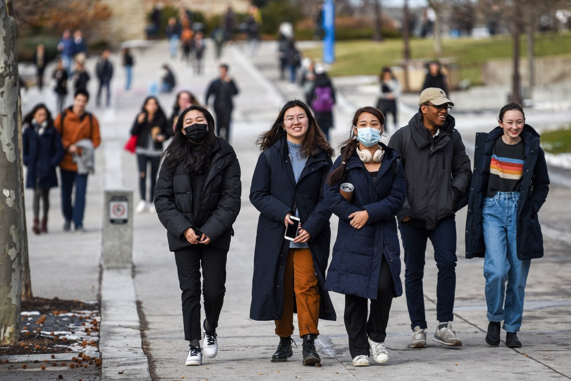 Students revert to masks as the number of confirmed Coronavirus cases continue to rise.